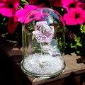 H & D Kristall Rosa Rose Blume Briefbeschwerer Glas Dome Blume Figurine Sammeln Statue Geschenk Hochzeit Tafelaufsatz Ornament-in Figuren & Miniaturen aus Heim und Garten bei