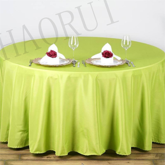 10pcs Customize Table Polyester Cotton Fabric 90 Round Sage Green Luxury Dining Tablecloth Wedding
