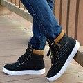 Дешевые свет повседневная обувь черный коричневый высокий верх узелок мужчины сапоги