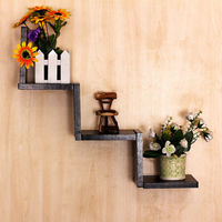 Overseas Home Living Room Decor Shelves Floating Shelves Wall Mounted Bookcase Hanger Storage Display Organizer Holders Racks