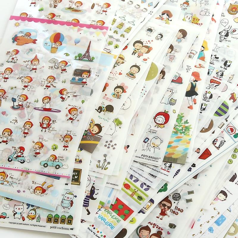 Cute Molang Rabbit Cartoon Animals Sticker Pvc Cartoon Stickers Diary Sticker Scrapbook Decoration Stationery Stickers 2