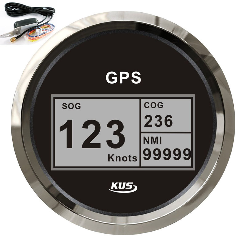 Aliexpress Com Buy 85mm Digital Gps Speedometer Tachometer Gauges Indicator Marine Auto Car
