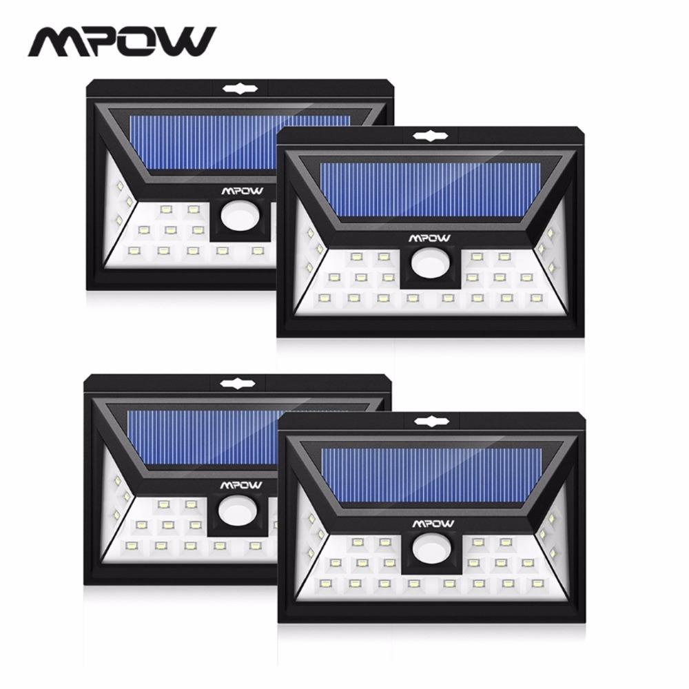 Mpow CD013 24 LED Solar Licht Motion Sensor Weitwinkel LED Lampe Garten Yard Wand Solar Powered Freien Licht 3 einstellbare Modelle