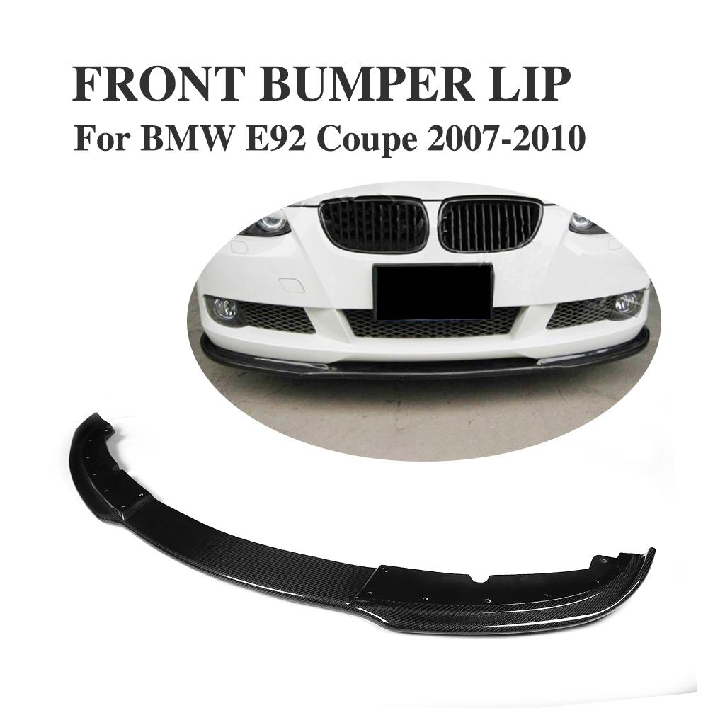 Carbon Fiber car Front bumper Lip Spoiler Apron Chin For BMW 3 Series E92 328i 335i 2Door Non M3 M Sport bumper 2007-2010 olotdi carbon fiber front lip spoiler gts style front bumper for bmw e92 e93 m3 bumper car styling accessories factory