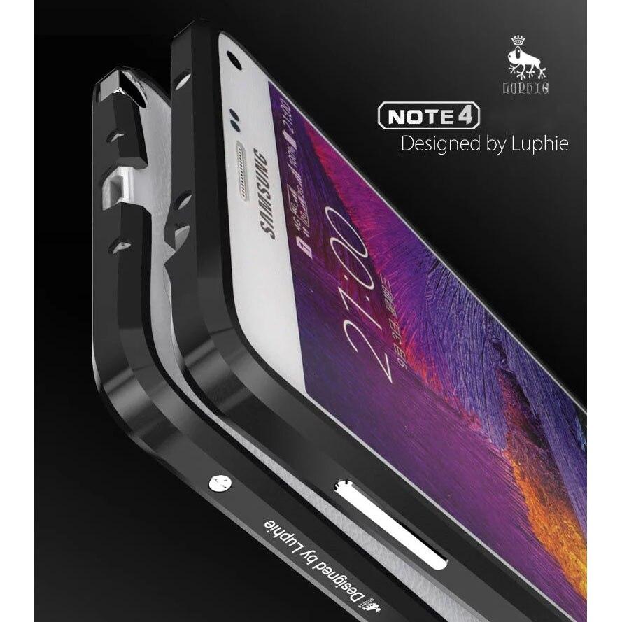 imágenes para Nueva Noble de Lujo Parachoques Para Samung Galaxy Note Caso 4 De Aluminio para Samsung Nota 4 N9100 Caso de Parachoques del Metal Marco de la Aleación Avanzada