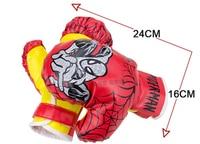 Red Child Kids Training MMA Spider Man Kick Boxing Bag Hanging Muay Thai Punching Sandbag Boxing
