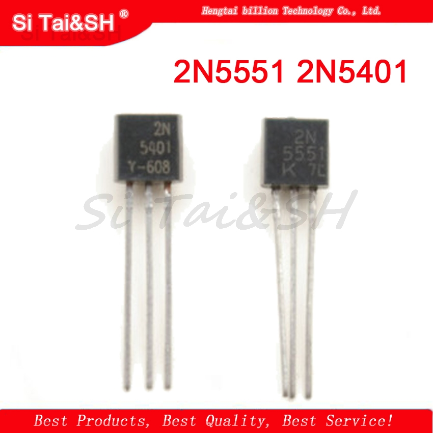 50pcs/lot Transistor DIP 2N5551 2N5401 5551 5401 TO-92 (25PCS* 2N5401+25PCS* 2N5551 )