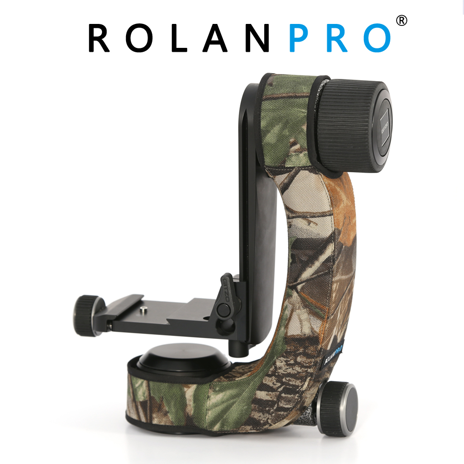ROLANPRO Personality Tripod Head Camouflage Sleeve Protective Case For Gitzo GHFG1 Gimbal Head Telephoto Bird Shooting
