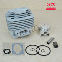 44MM 52CC BC520 CG520 Brush Cutter Cylinder Piston Kit With Muffler Gasket Cylinder Gasket And Needle