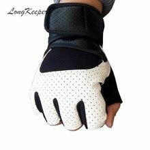 LongKeeper High Quality Mens Leather Glove Fingerless Gloves