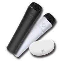 Thông minh 2 cái Không Dây Di Động MIC ktv karaoke cho TV box hoặc TV với Âm Thanh ra