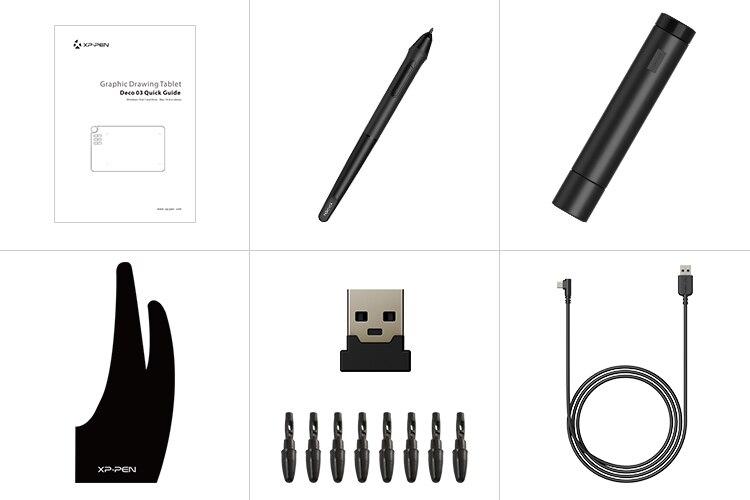 XP-stylo déco 03 sans fil graphique numérique dessin tablette dessin stylo tablette avec stylet passif sans batterie et 6 raccourci - 6