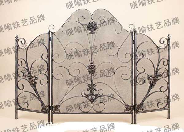 Wrought iron mantel Thirty percent screen guardrail fireplace screen 1121
