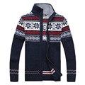 Envío libre El último invierno de los hombres ocasionales largo cardigan de cuello suéter masculino suéter jacquard tamaño M-3XL 84.15 XYQ