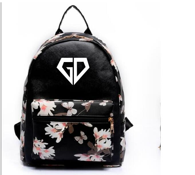 k-pop new Leisure pu backpack bigbang GD The same paragraph Girls Mini models Korean version College Wind school bag Handbag