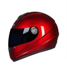Motorcycle Helmet Full Face Street Motorbike Racing Breathable Helmet Approved Clear Lens Shield Moto Helmet Red