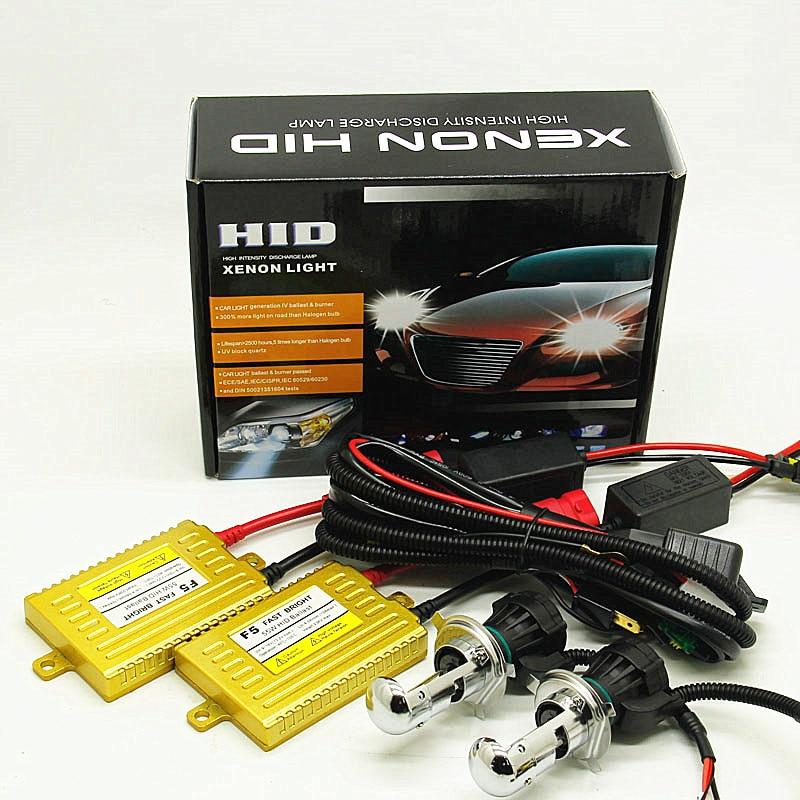 2x HID Xenon Headlight Bulbs Wire Harness Conversion Kit H4 8000K 12V 55W