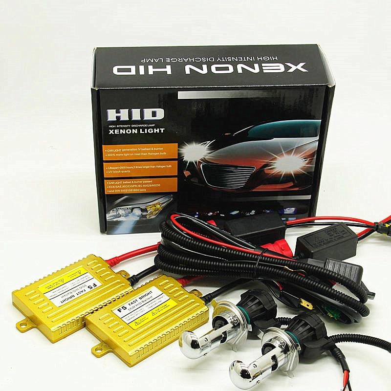 1 set bi xenon hid AC 12V 55W H4 Hi/lo beam 4300k 6000k 8000k  headlight kit