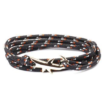18 Colors Optional Hot Selling Viking Bracelets For Men And Women Silver Shark Multilayer Rope Bracelet Homme Femme Men Jewelry 2