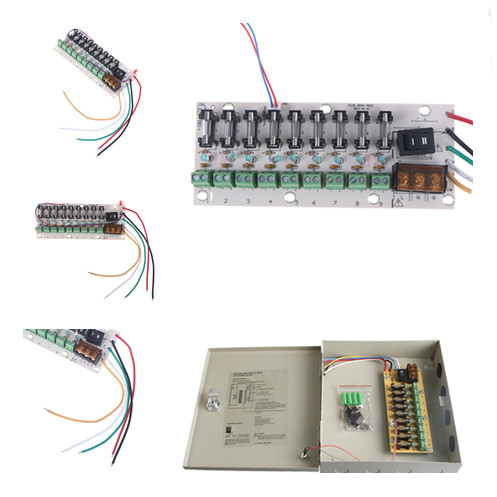 led switch power 160*64mm 12v dc distribution 9-way pcb board terminal block