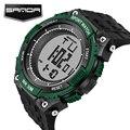 SANDA Новый Бренд Часы Мужчины Военные Спортивные Часы Мода Силиконовой Водонепроницаемый СВЕТОДИОДНЫЙ Цифровой Наручные Часы Для Мужчин Часы цифровые часы