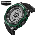 SANDA New Brand Watch Men Military Sports Watches Fashion Silicone Waterproof LED Digital Wristwatch For Men Clock digital-watch