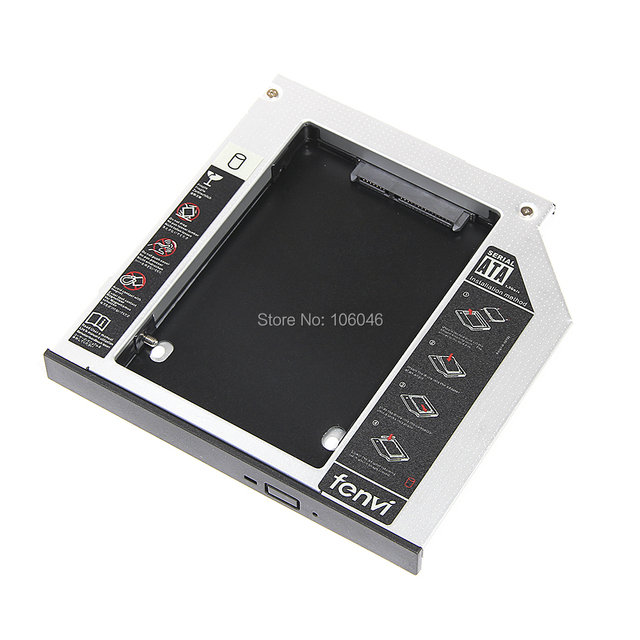 "Hot sales 12.7mm SATA TO SATA 2ND HDD HARD DRIVE caddy for laptop 2.5"" SSD HDD Case Hard Disk Drive Enclosure ODD Optical Bay"