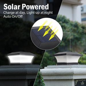 Image 4 - T SUNRISE SOLAR Fence Light IP65 กลางแจ้งพลังงานแสงอาทิตย์สำหรับตกแต่งสวนรั้วประตูรั้ว Wall Courtyard Cottage โคมไฟพลังงานแสงอาทิตย์