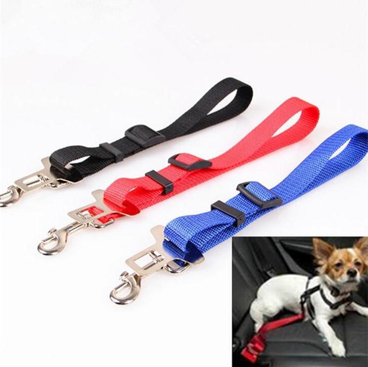 Dog Car Vehicle Seat Belt Safety Harness Nylon Fabric Free