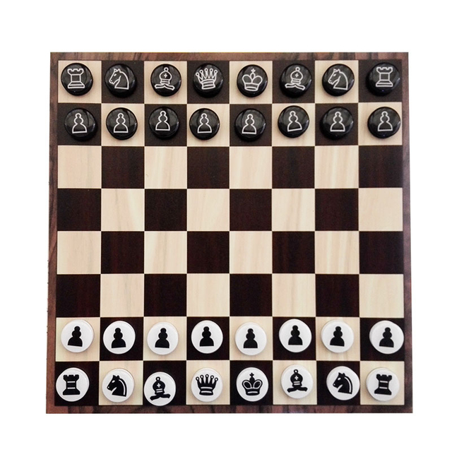Jeu d'échecs magnétiques disques portables 1