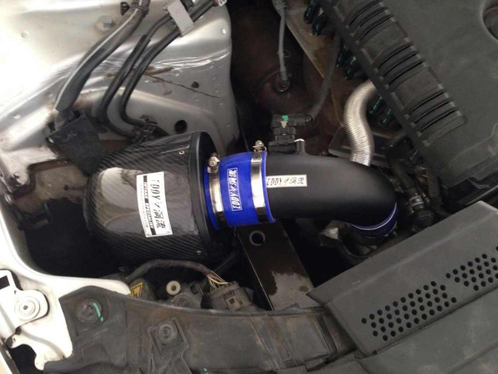 Pour Audi A6 A6L 2.0 T 2013 2014 haute performance haute puissance d'admission filtre à air filtre en fibre de carbone système d'admission