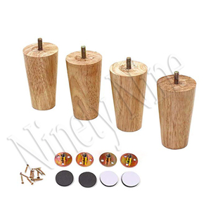 Image 3 - Furniture Legs Solid Wood Sofa Replacement Leg for Coffee Table Cabinet,100% Oak, Set of 4