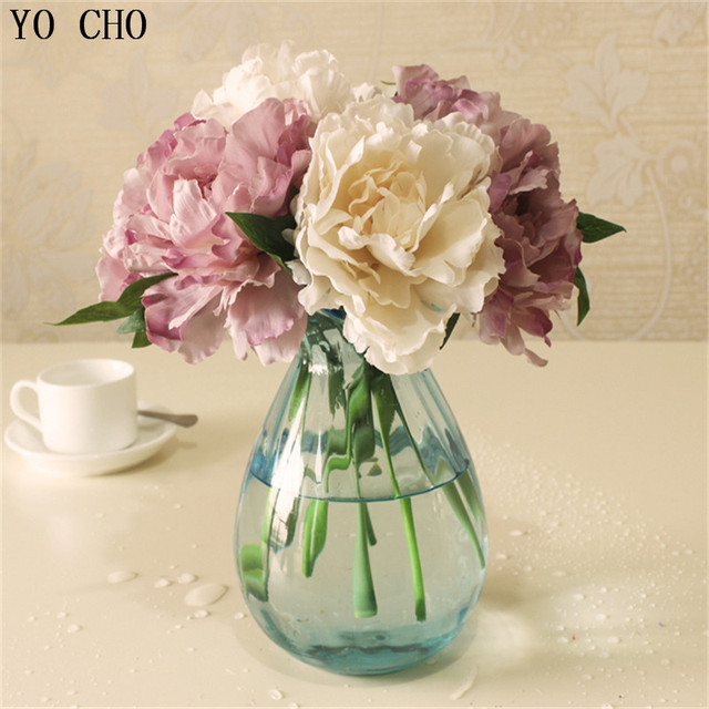 Aliexpress buy cheap tiffany blue artificial fake peony silk cheap tiffany blue artificial fake peony silk flowers bridal bouquet flower arrangement home wedding party table mightylinksfo