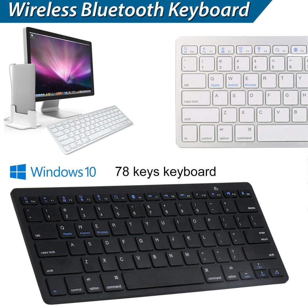 US $8 46 41% OFF VOBERRY Ultra thin Slim Keyboard Wireless USB Mini  Bluetooth Keyboard Black 78 Keys Ergonomic Keyboard For PC Apple Mac  Laptop-in