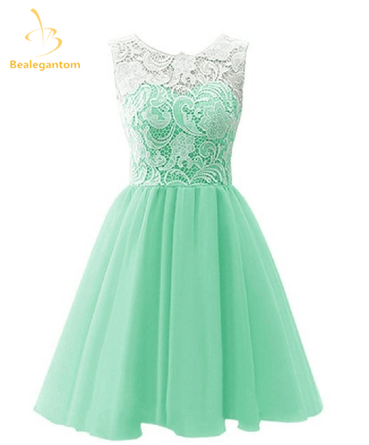 6a8c775d64a Bealegantom New Scoop Mini A Line Homecoming Dresses 2018 With Tulle  Appliques Prom Party Dresses Graduation Dress QA1096-in Homecoming Dresses  from ...