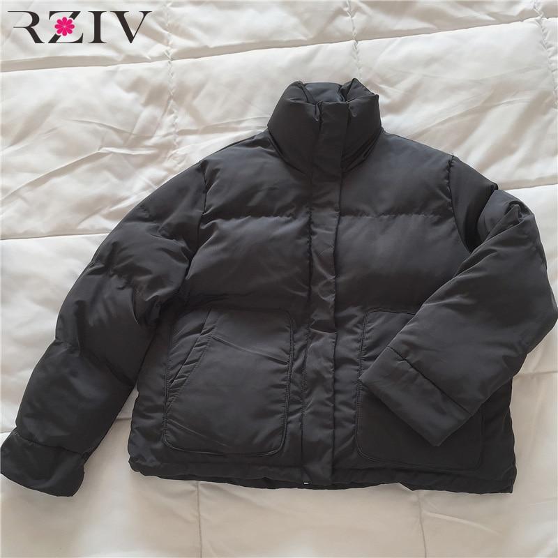D'hiver Coton Femmes Casual 2018 Solide marron Rziv Noir Épais De Couleur vert Manteau IAq4x5qwH