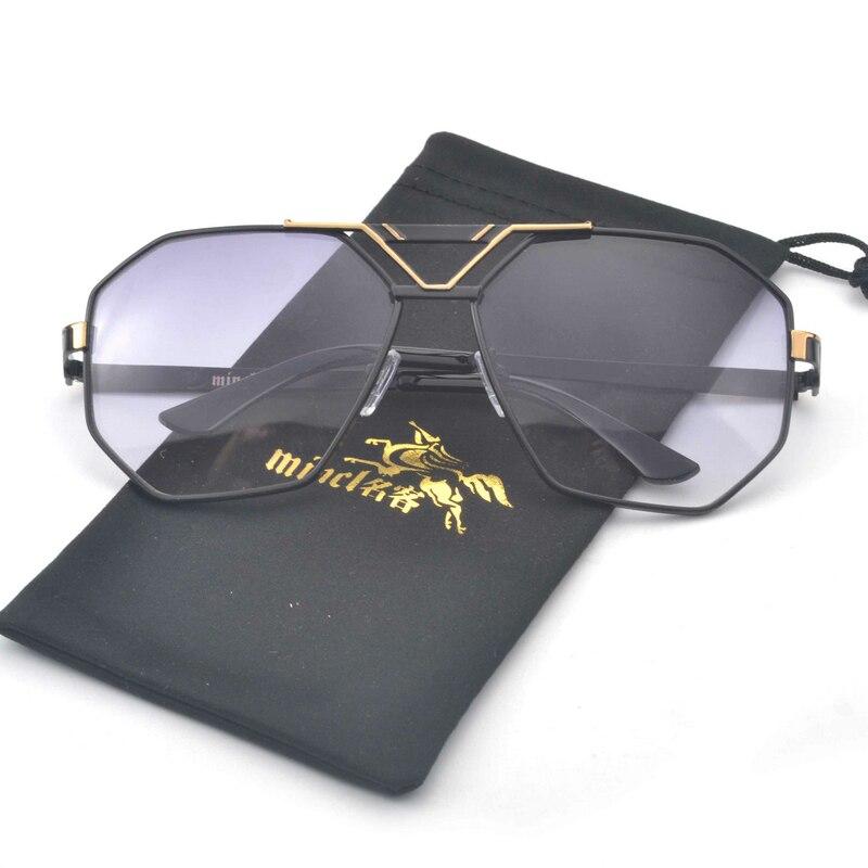 2ad2c281adc3 MINCL  New Style Luxury Brand Designer Sunglasses Men Women Vintage  Oversized Glasses Man