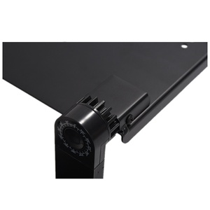Image 4 - Portable Foldable Adjustable Laptop Desk Computer Table Stand Tray For Sofa Bed Black