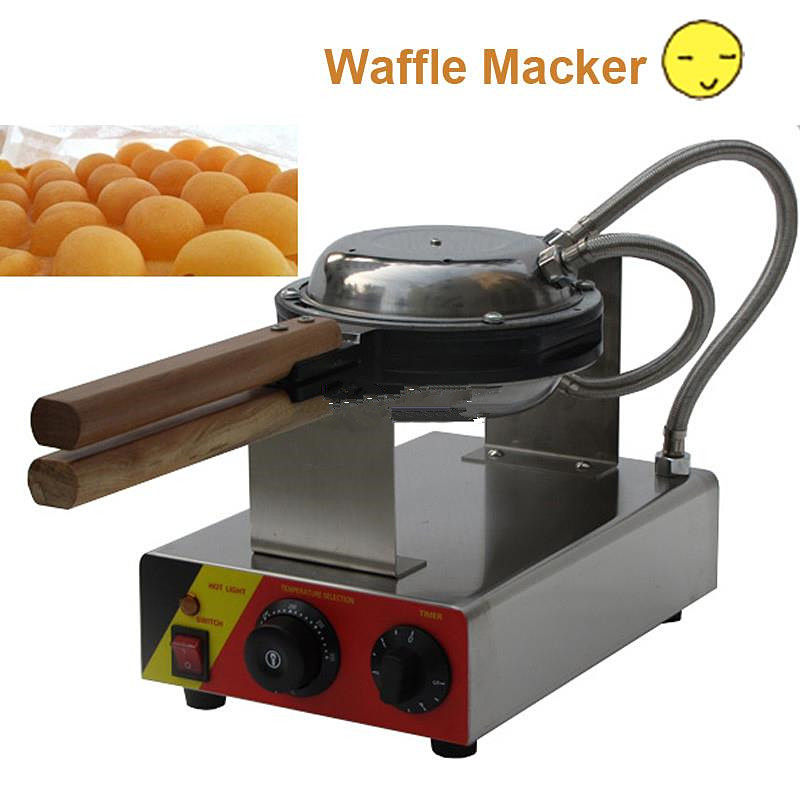 Automatic Temperature Control Stainless Steel Egg Waffle Egg Waffle Iron Bubble Waffle Wafer Electric Eggettes Egg Bubble Maker hot sale multicolor usb led bulb dc5v 5w 10 led 5630 smd ball camp night light reading lamp for notebook laptop pc pure white