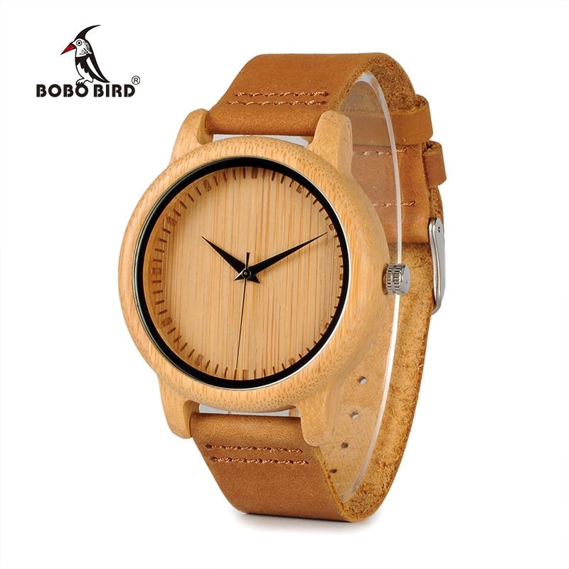 BOBO VOGEL Uhren Bambus Uhren Liebhaber Handgemachte Natürliche Holz Luxus Armbanduhren Ideal Geschenke Artikel Drop Verschiffen