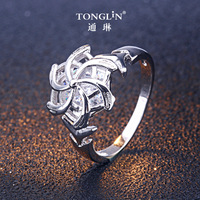 ffbd881144ab TONGLiN Luxury Jewelry Jewellery Ring Brand 925 Sterling Silver Snowflake  Rings For Women. TONGLiN joyería de lujo anillo marca 925 esterlina plata  ...