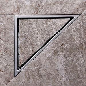 Image 2 - AODEYI Hidden Type Triangle Tile Insert Floor Waste Grates Shower Drain 232mm*117mm 304 Stainless Steel Floor Drain11 184