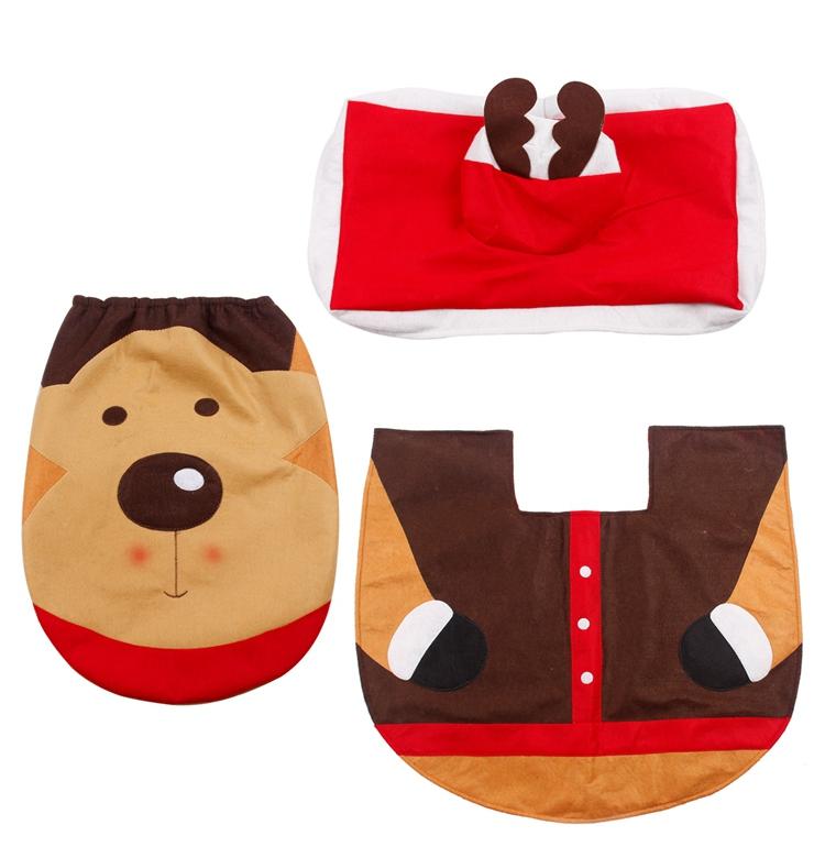 HTB1Ucn.SFXXXXcTXpXXq6xXFXXXc - FENGRISE Santa Claus Rug Toilet Seat Cover Christmas Decoration Fancy