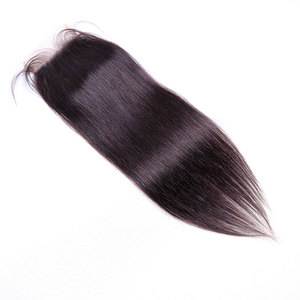 Image 5 - BY 5x5 Lace Closure With Bundles  Human Hair Bundles With Closure Peruvian Straight Hair Bundles With Closure Remy