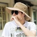 Новый 2016 Мода Мужская Профессиональные Открытый Рыбная Ловля Пешие Прогулки Cap мужская Sunbonnet Шляпа Солнца летом Случайные Твердых Складной Пляж Крышка 1800