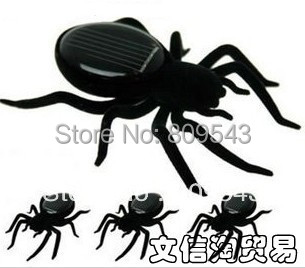 300PCS New Cute Funny Solar Powered Spider Robot Toy For Children Gift Free Shipping
