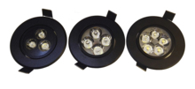 3W 4W 5W Led Downlight Dimmable Black Shell | IP40 Indoor Lighting