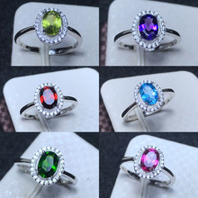 MeiBaPJ Multiple Gemstone Optional Simple Flower Ring for Wo