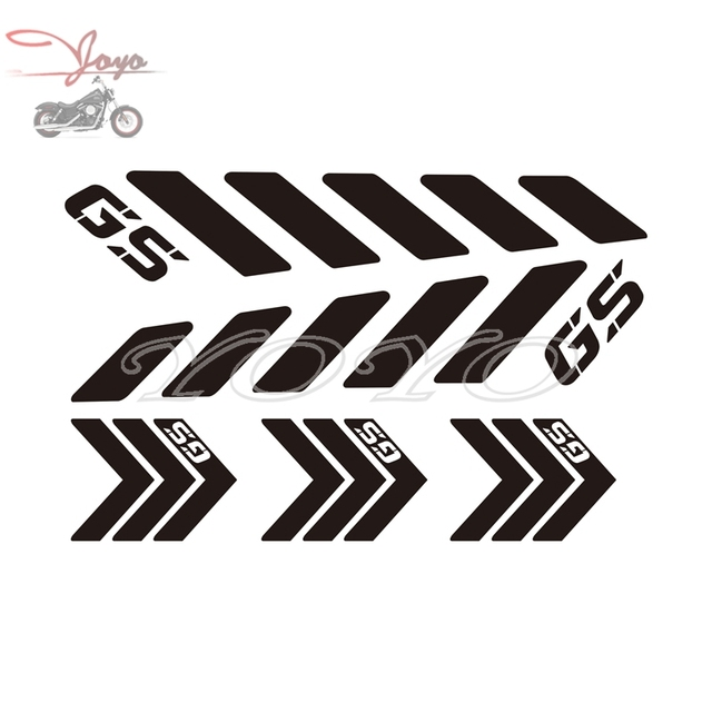 Motorcycle GS Logo Stickers Helemt Decals For F650GS