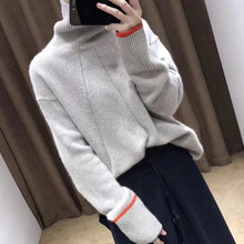 Thick Cashmere Turtleneck Sweater Women 2018 autumn winter Korea Oversized Streetwear Pull Femme Hiver Knitted Pullover Jumper